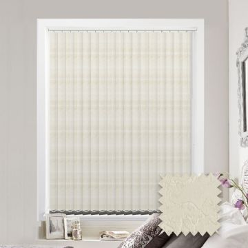 Made to measure vertical blind in Diamond Cream Fabric